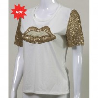 Beaded Lips Top 珠唇上衣