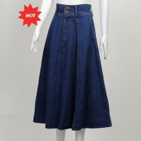 `Denim Long Skirt 牛仔长裙