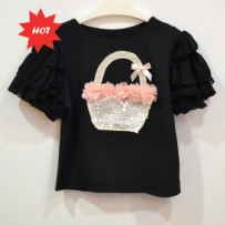 Cropped Applique Top 立体贴花上衣