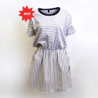 Navy Stripes Dress 海军条纹裙