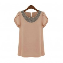 Reserved Bead Overlap Sleeve Blouse