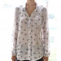 Reserved zebra print Long Sleeve Shirt