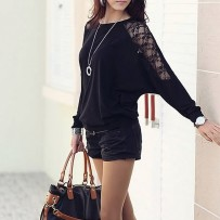 Reserved Lace Spliced Blouse