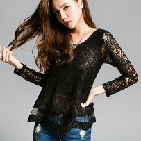 Reserved Back Cross Rose Lace blouse