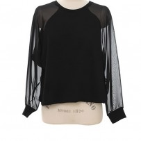 Reserved Chiffon Spliced T Shirt