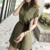 Reserved shirt dress with bandage