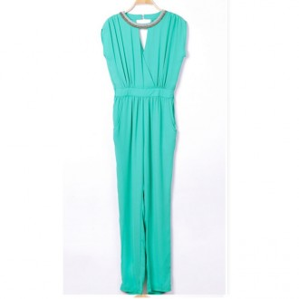 Reserved Fashionable Bead Skinny Jumpsuit