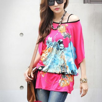 Sancarlos Flower Print Bandage Long blouse