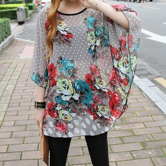 Sancarlos Flower Rounded hem Blouse