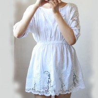 Sancarlos Shift Embroidery Dress