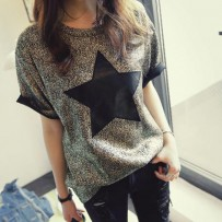 DesFry Fashionable Star Pattern T Shirt