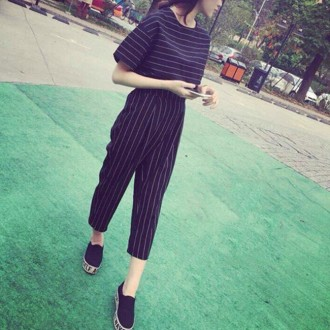 Desfry Stripe Shirt And Pant