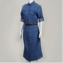 `Denim Shirt Dress 牛仔衬衫裙