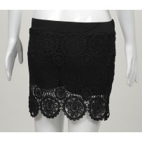 `Lace Elastic Mini Skirt 弹性蕾丝迷你裙